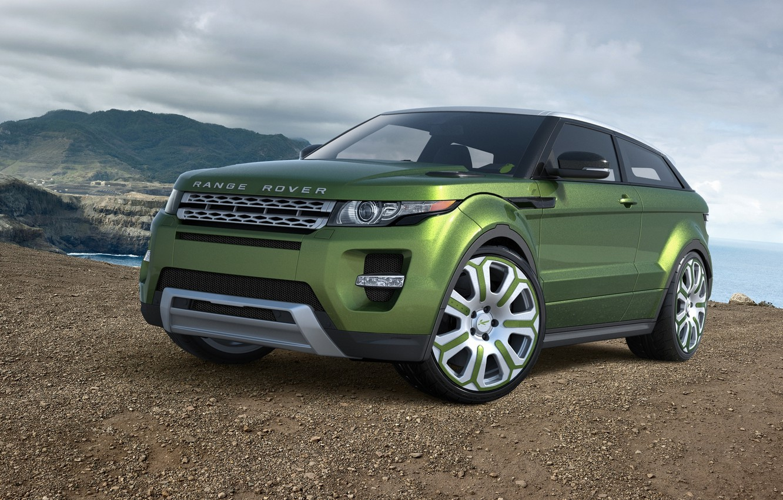 Photo wallpaper car, machine, auto, green, Land Rover, Range Rover, green, avto, Evoque, Land Rover, Ewok, Range …