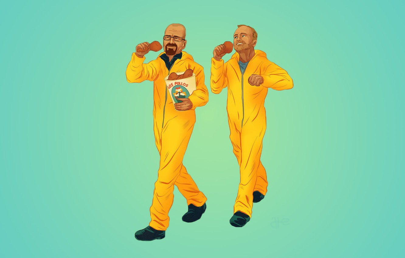 Photo wallpaper Breaking Bad, Walter White, Jesse Pinkman, The Chicken Brothers