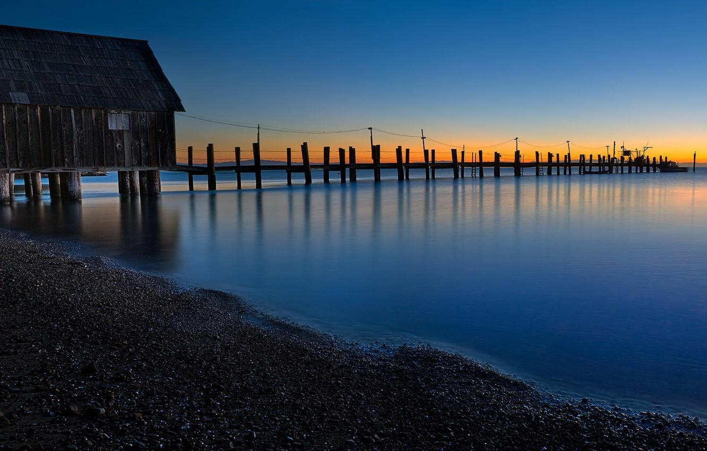 Photo wallpaper california, landscape, pier, China Camp