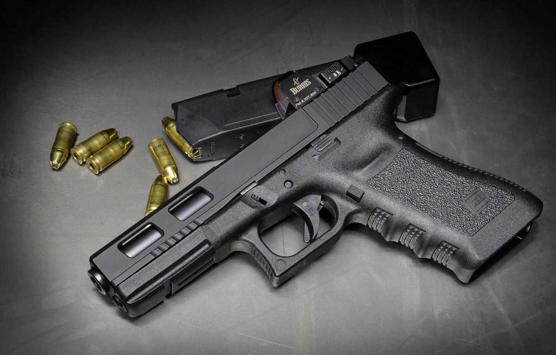 Photo wallpaper Austria, cartridges, Glock 17, self-loading pistol