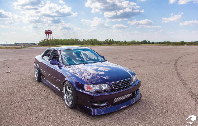 Photo wallpaper blue, Toyota, blue, tuning, Toyota, Chaser, chayzer
