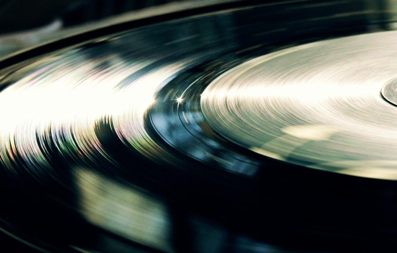 Photo wallpaper light, line, vinyl, record