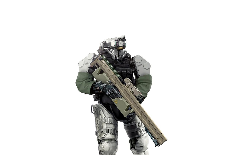 Photo wallpaper weapons, fiction, robot, cyborg, equipment