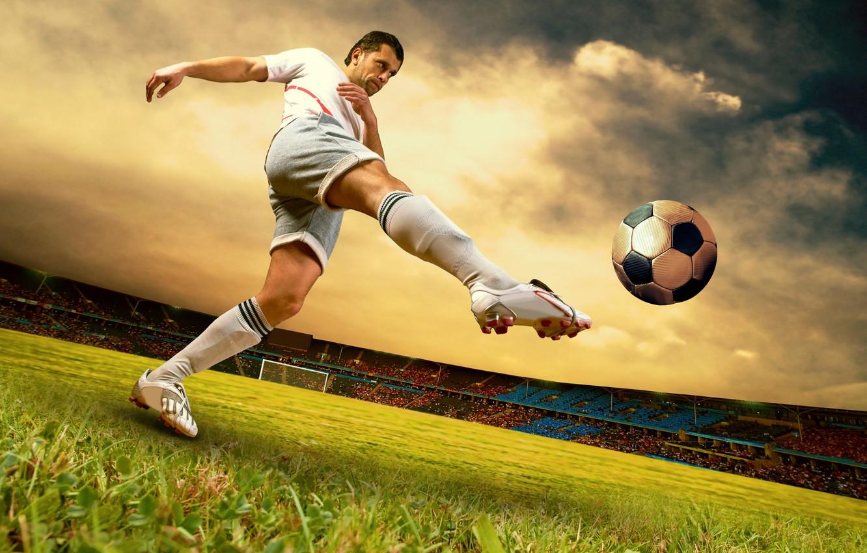 Обои soccer, Ball, Sky kick. Спорт foto 7