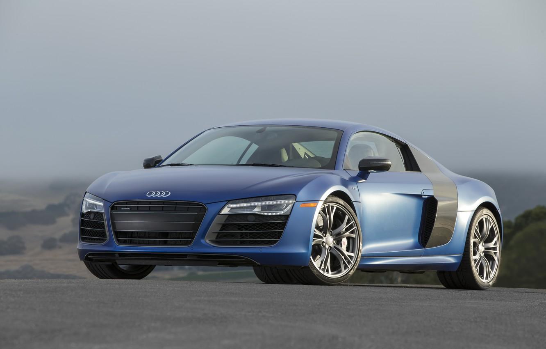 Photo wallpaper Audi, more, Blue, V10, R8