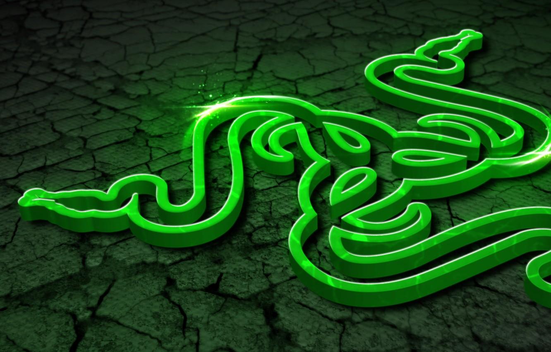 Photo wallpaper Art, Green, Black, Logo, Razer, White, Wallpaper, Hi-Tech, Razer Control