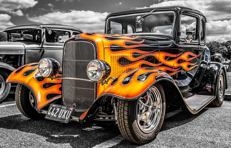Photo wallpaper retro, classic, hot-rod, classic car