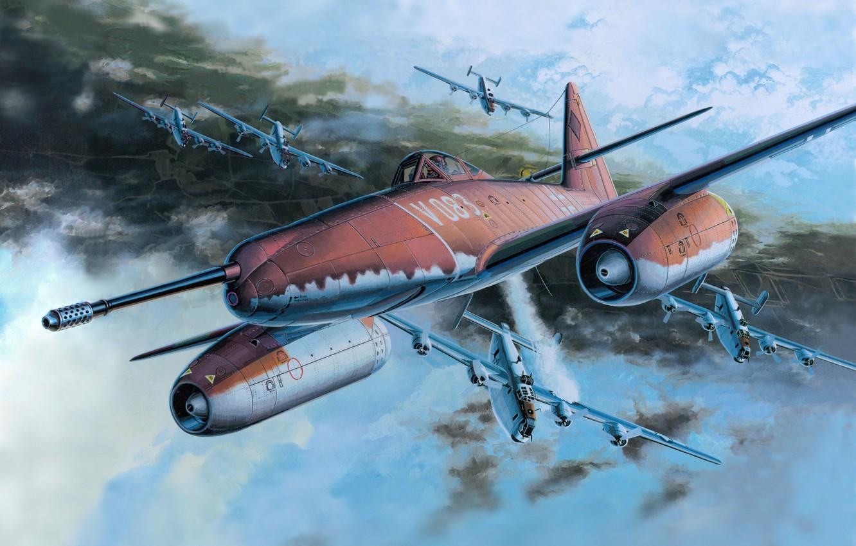 Photo wallpaper figure, battle, art, Me - 262A - 1a - U -4