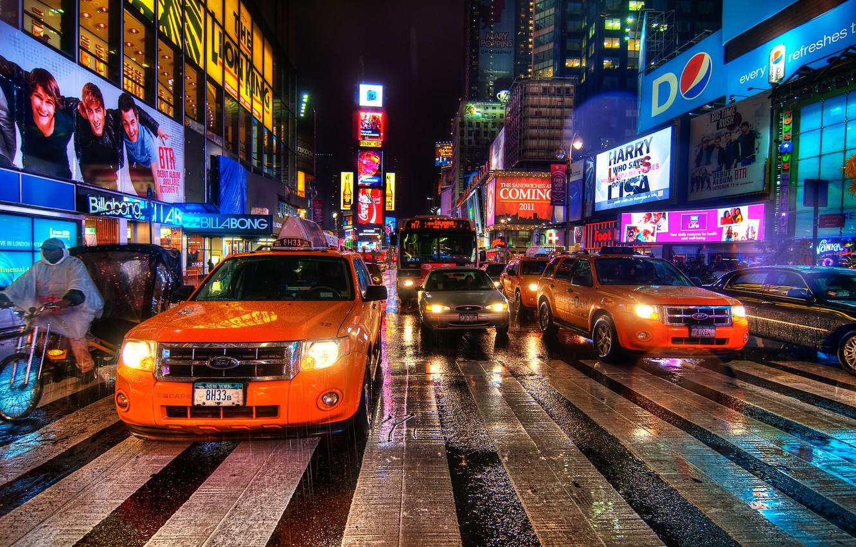 Wallpaper Night New York Usa Nyc Times