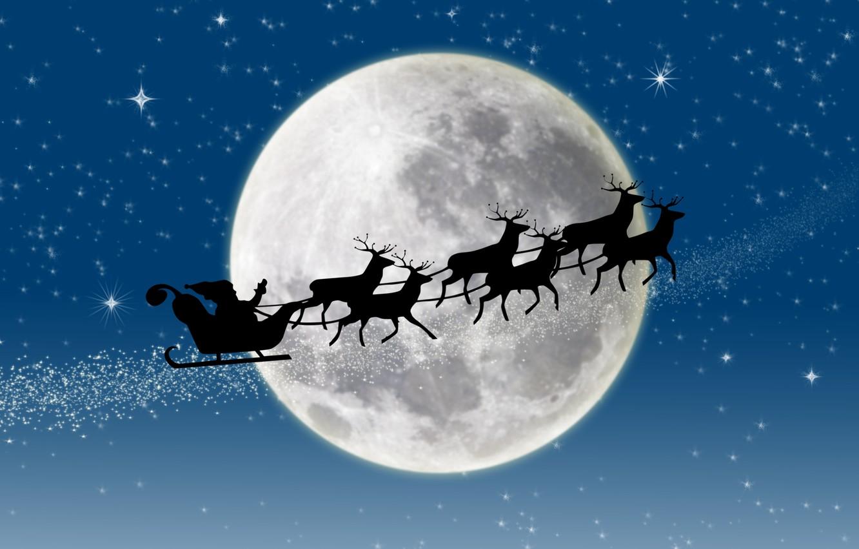 Photo wallpaper stars, snow, New year, new year, deer, snow, stars, merry christmas, full moon, full moon, …