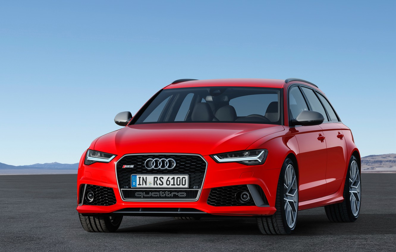 Photo wallpaper red, Audi, Audi, Red, universal, Before, RS 6