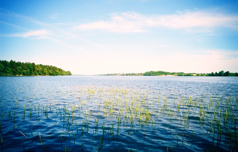 Photo wallpaper the sky, nature, river, Russia, Volga