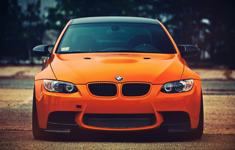 Photo wallpaper look, BMW, orange