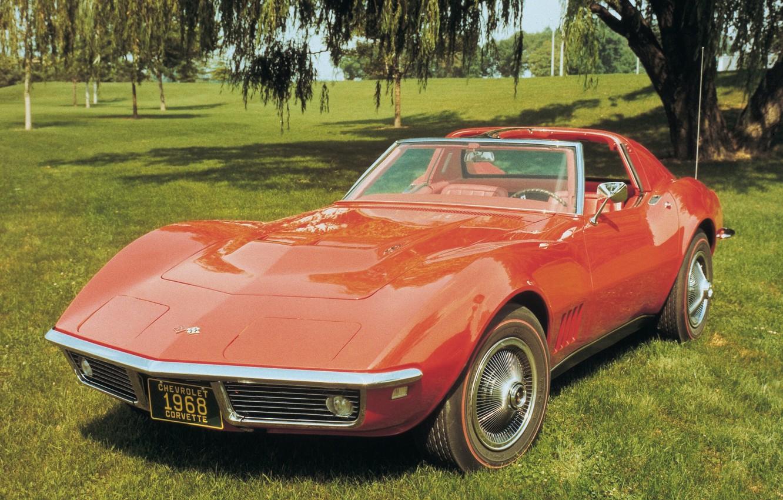 Photo wallpaper auto, Corvette, Chevrolet, sports car, Chevrolet, Coupe, Corvette, 1968