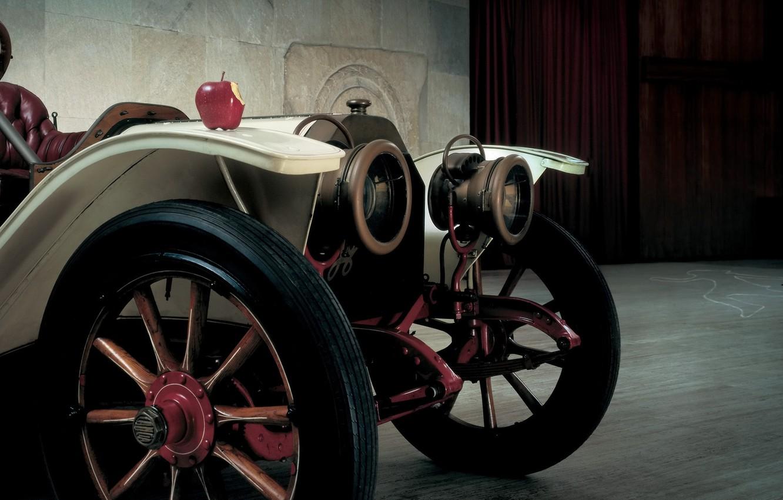 Photo wallpaper retro, Apple, twilight, the front, Lancia, Beta, 1909, 15HP, Beta, Torpedo, Lancia