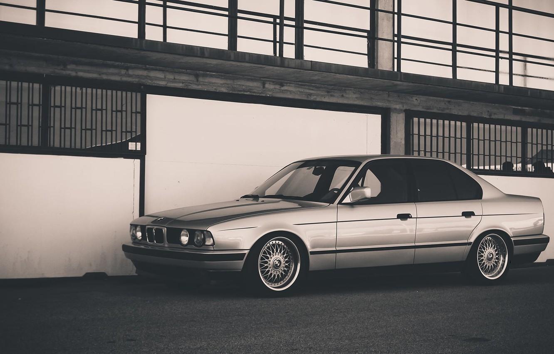 Photo wallpaper BMW, Classic, BMW, E34, BBS, Side