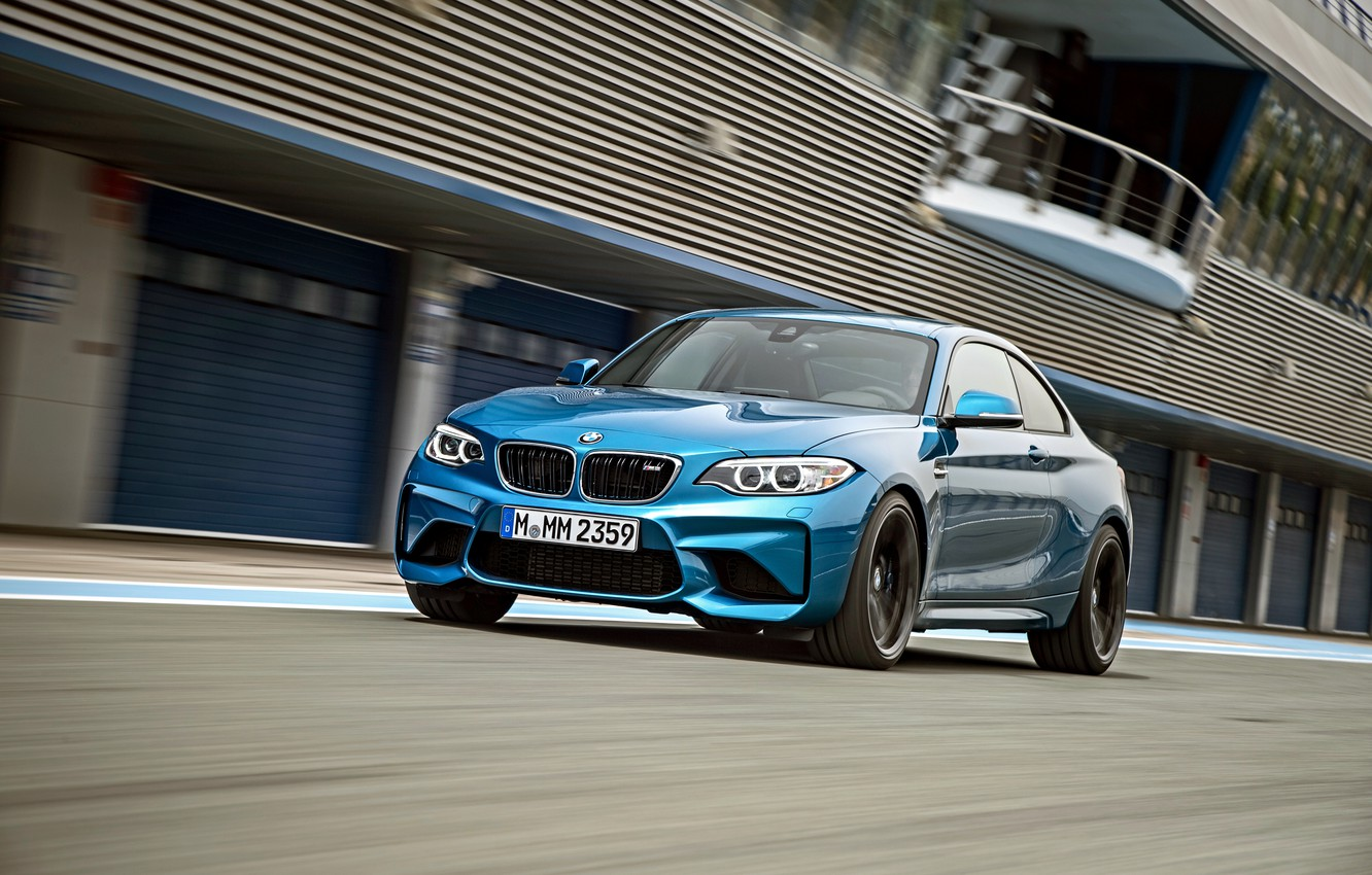 Photo wallpaper BMW, coupe, speed, track, BMW, F87