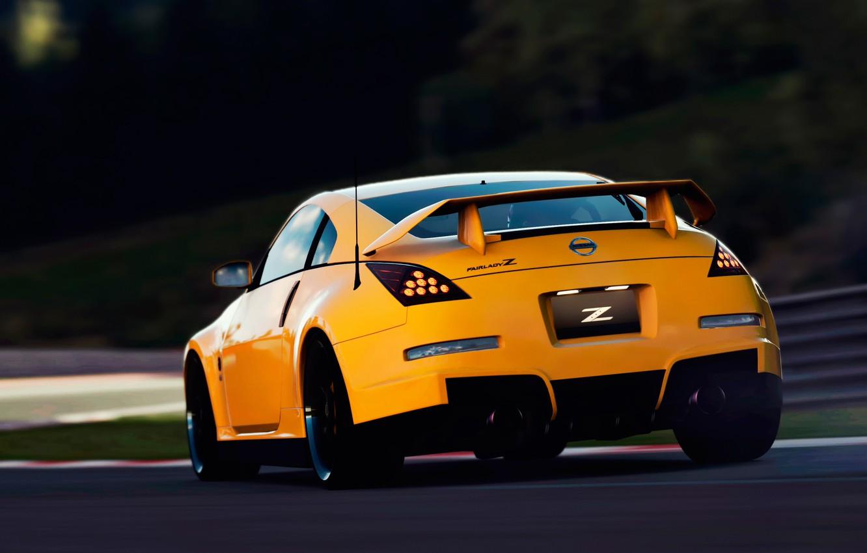 Photo wallpaper track, Nissan, 350z, Fairlady-Z