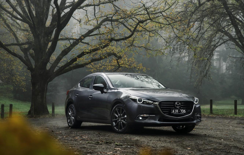 Photo wallpaper Grey, Mazda, Cars, Sedan, 2016, Metallic, SP25, Astina