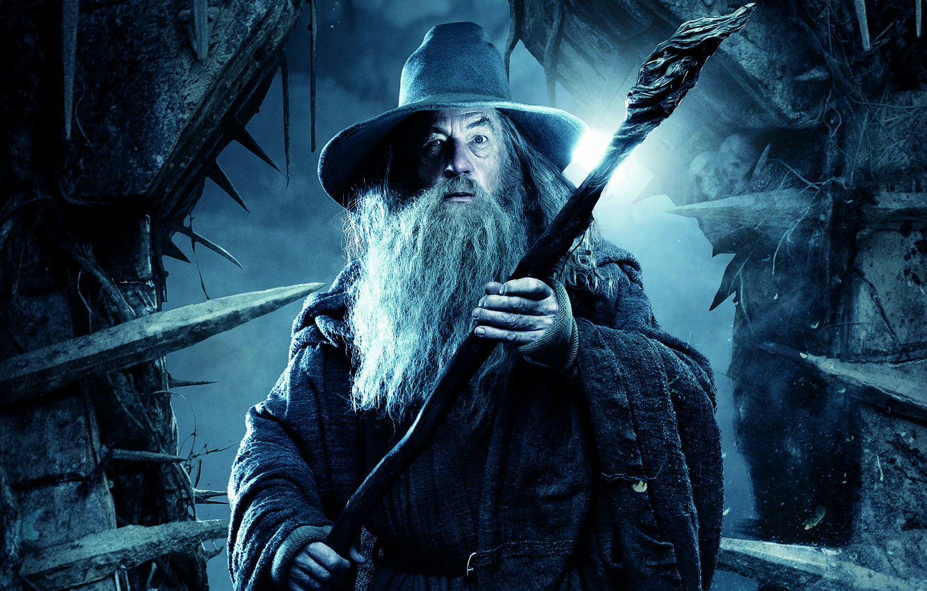 Photo wallpaper staff, the wizard, Gandalf, The hobbit, Ian McKellen, The Hobbit, Ian McKellen, Gandalf, wizard, The …