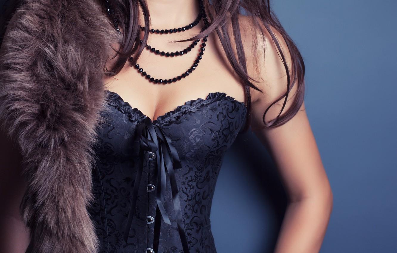 Photo wallpaper style, model, figure, corset