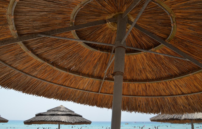Photo wallpaper sea, beach, summer, umbrellas, summer, beach, sun, cyprus, ayia napa, Cyprus, without filter, Ayia NAPA, …