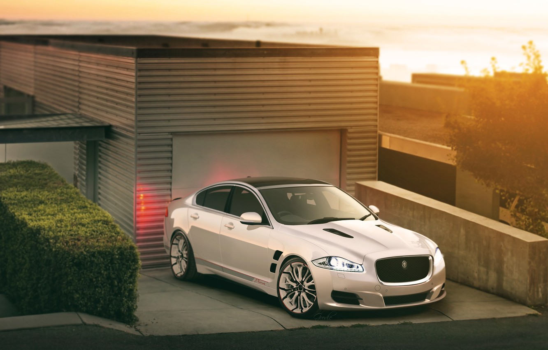 Photo wallpaper garage, Jaguar, promiz, jaguar xjf