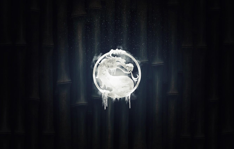 Photo wallpaper logo, mortal kombat, sub zero, bring the cold