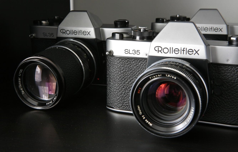 Photo wallpaper macro, camera, Rollei SL35