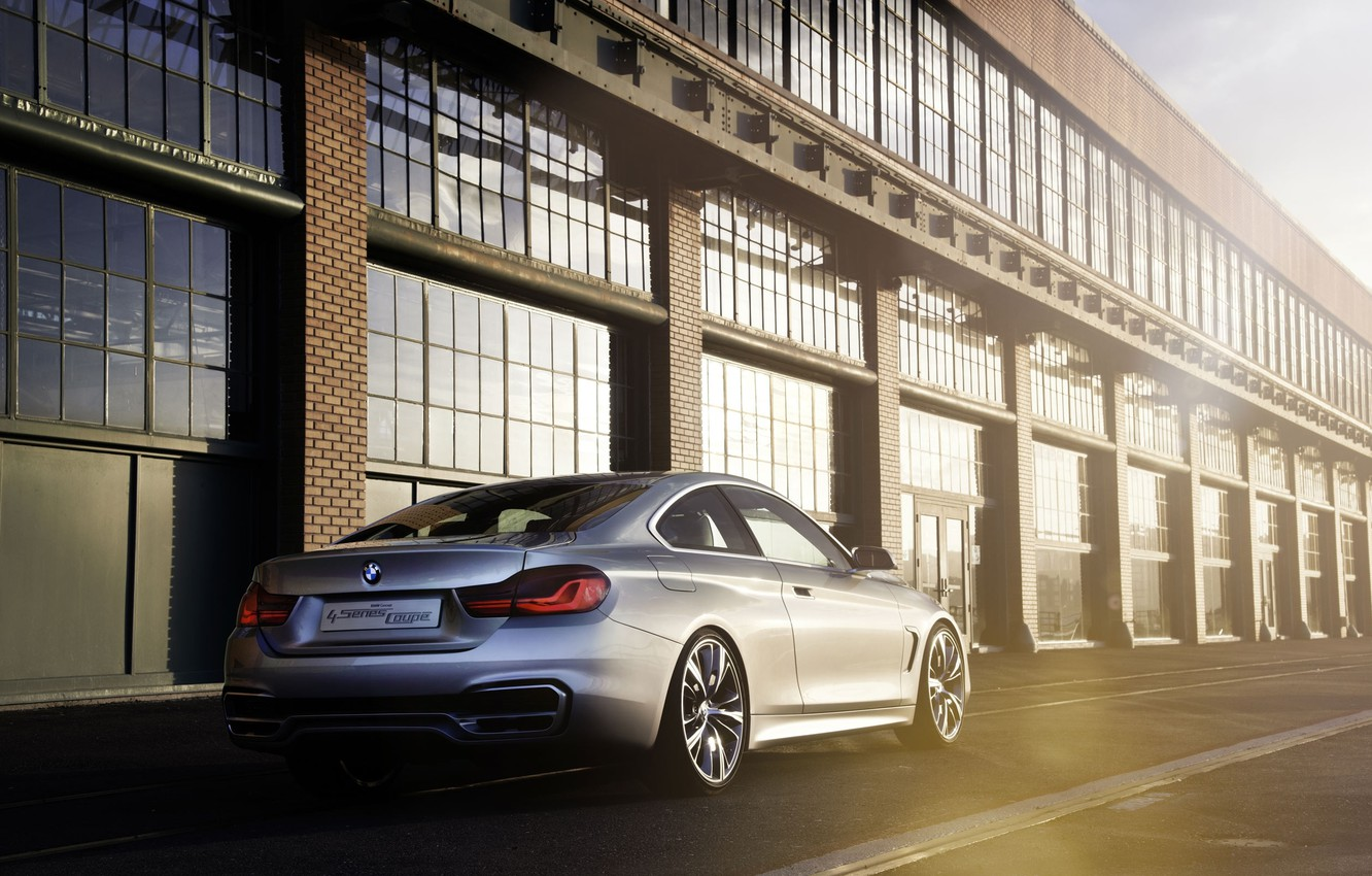 Photo wallpaper Concept, BMW, Boomer, The concept, Light, Silver, The building, Blik, Coupe, 4 Series