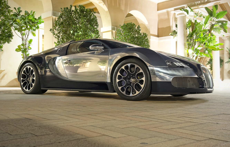 Photo wallpaper Bugatti, Grand, Veyron, Sport, Blue, Nuit