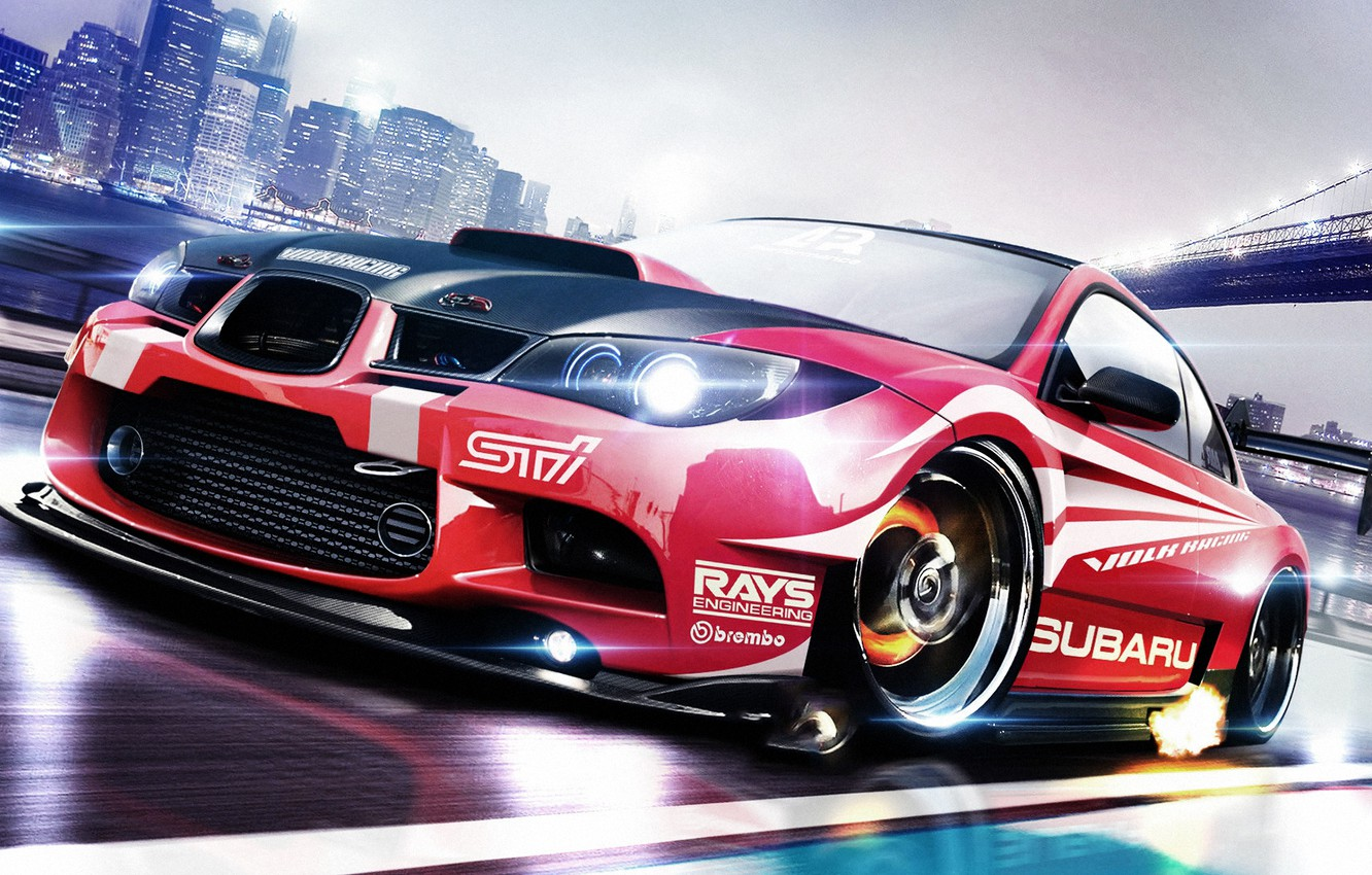 Photo wallpaper Subaru, Impreza, WRX, Subaru, Impreza, Race car, STi