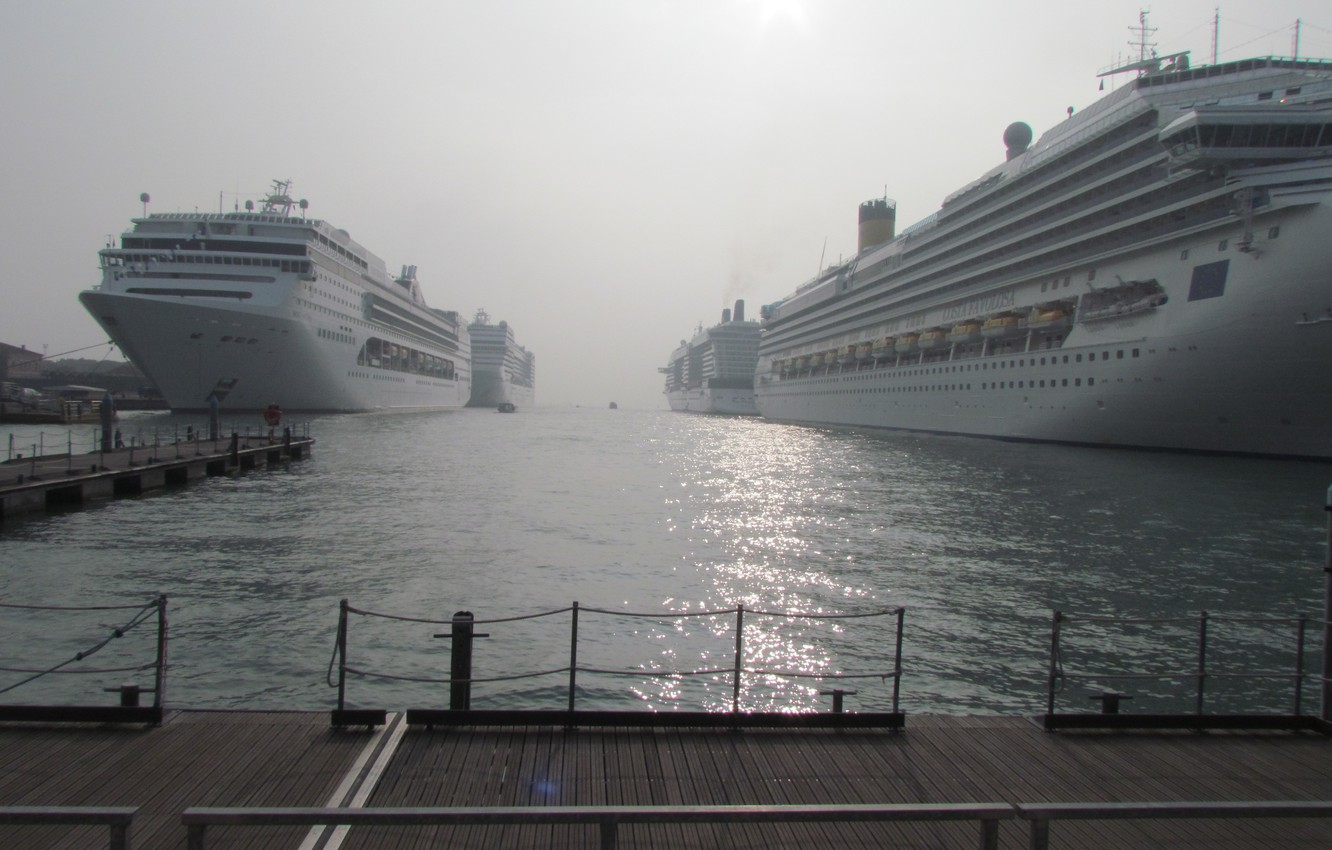 Photo wallpaper sea, water, ships, port, Liners