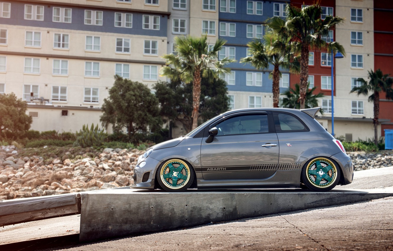 Photo wallpaper tuning, fiat, tuning, 500, abarth, hatchback, Fiat, of Abart