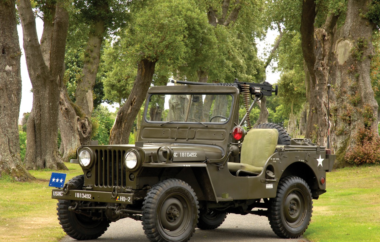 Photo wallpaper Auto, jeep, willys, m38
