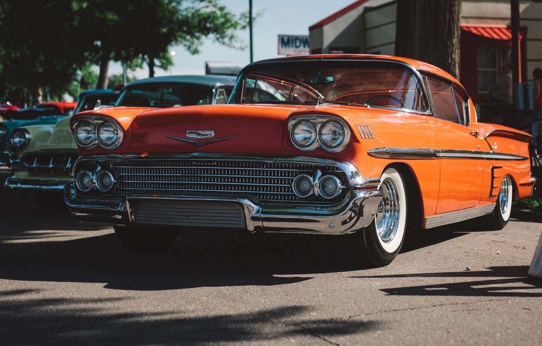 Photo wallpaper retro, Chevrolet, classic, Bel Air, the front
