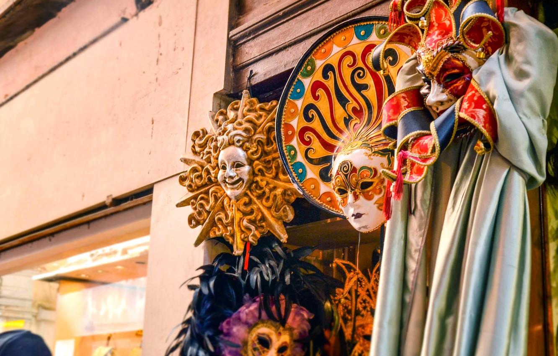 Photo wallpaper mask, Venice, Italy, italy, venice, venice