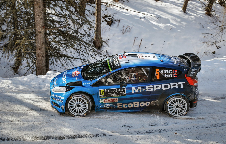 Photo wallpaper Ford, WRC, Rally, Fiesta, Monte Carlo, Ostberg