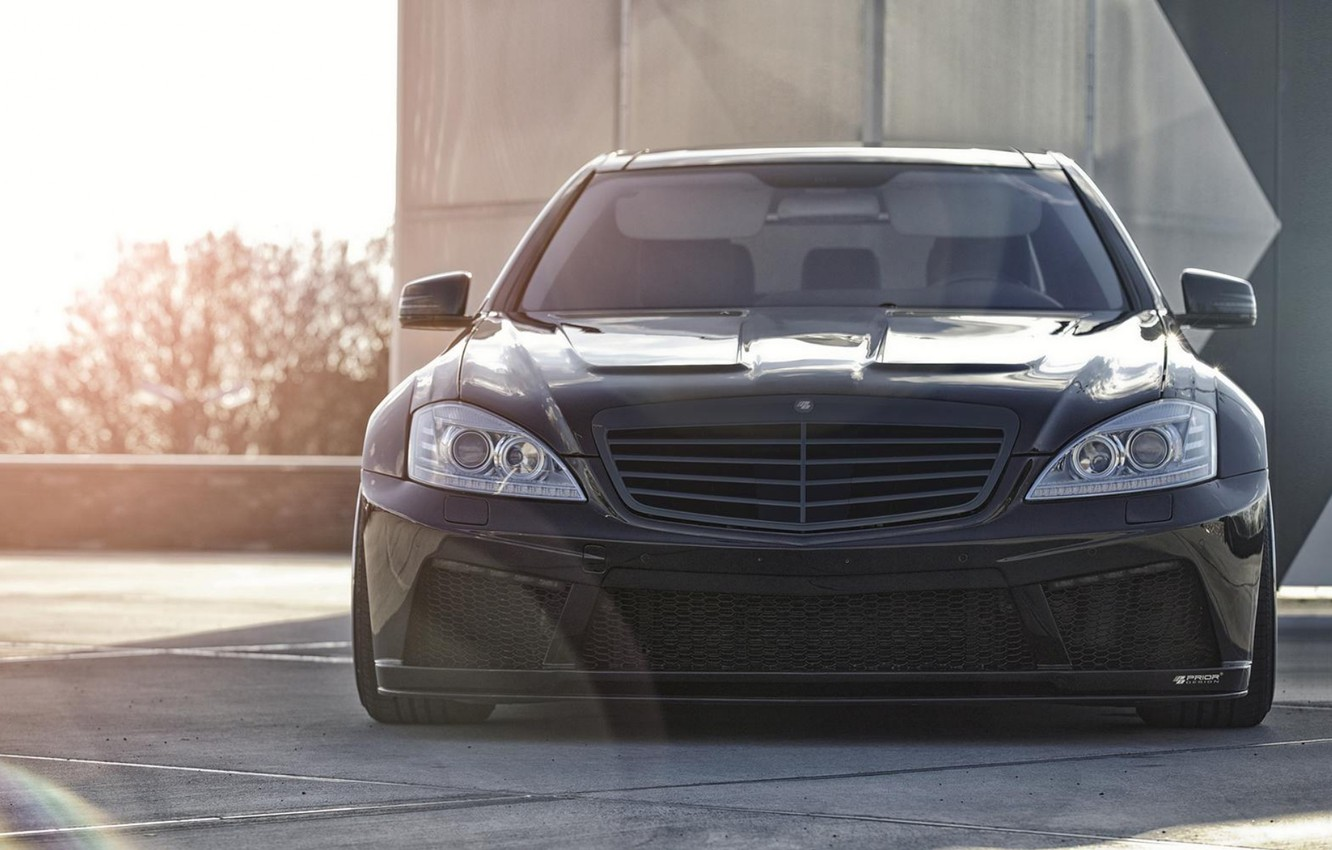 Photo wallpaper 2012, Mercedes Benz, S-Class, Tuned by Prior Design