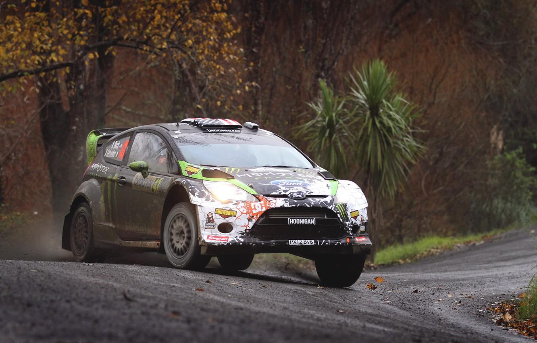 Photo wallpaper Ford, Auto, Sport, Turn, Ford, Race, WRC, Ken Block, Rally, Rally, Fiesta, Fiesta, Dirty