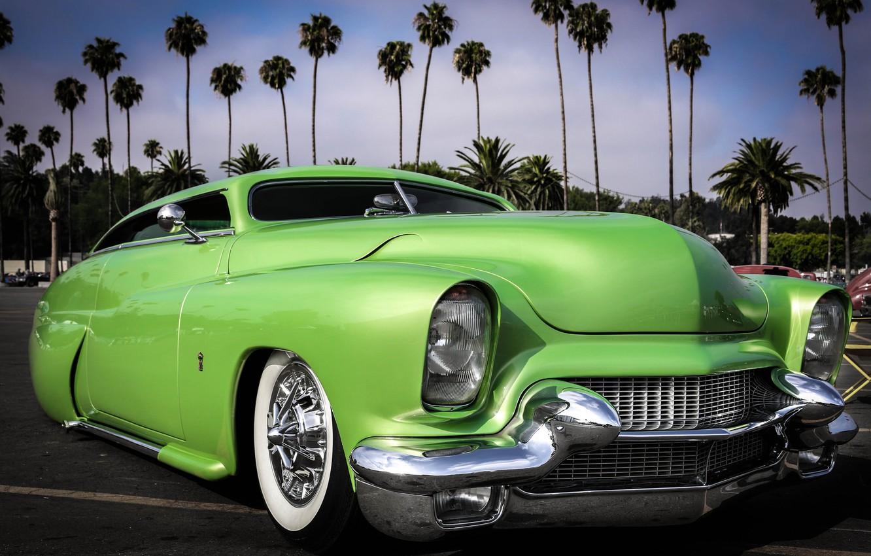 Photo wallpaper design, retro, car, classic, the front