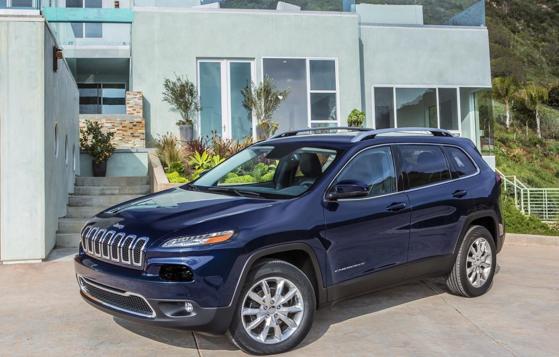 Photo wallpaper blue, jeep, SUV, Jeep, Cherokee, Limited, Cherokee