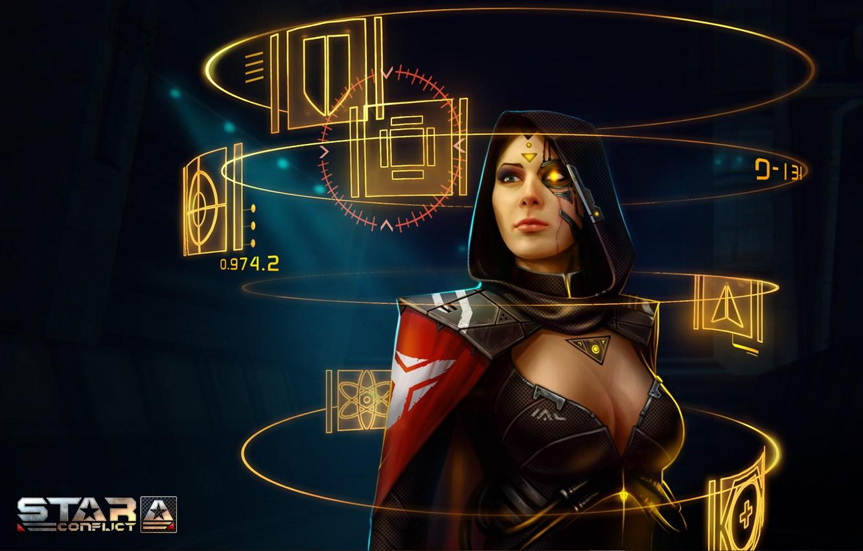 Photo wallpaper girl, cyborg, MMO, Jericho, Star Confict