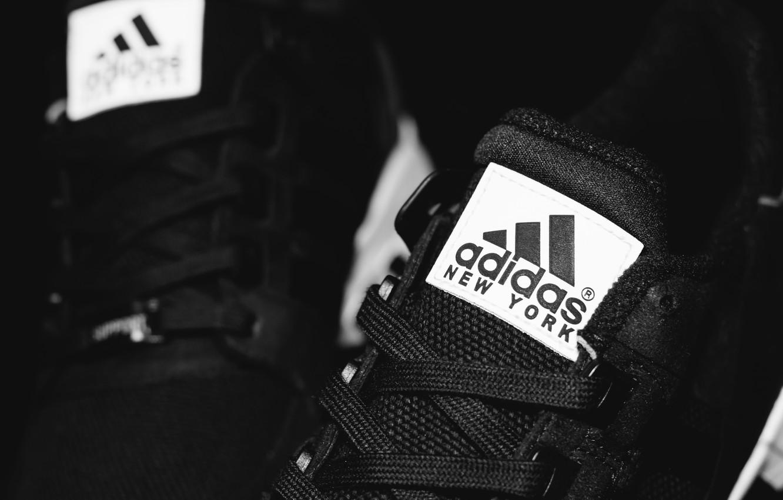 Photo wallpaper laces, Adidas, New York, EQT