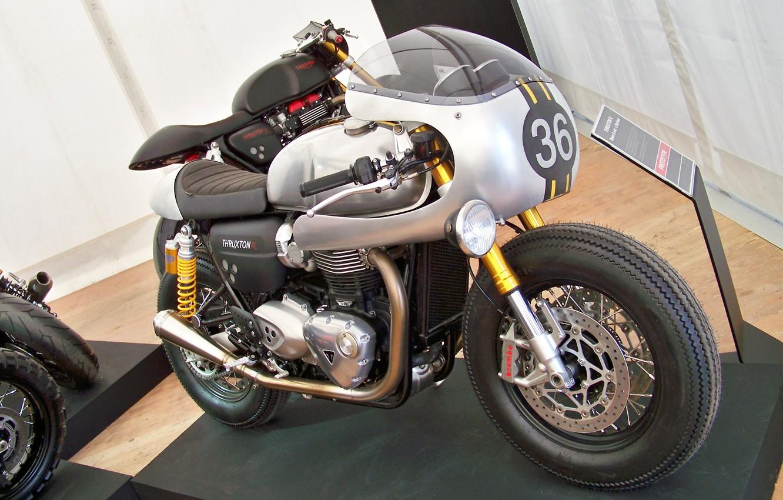 Photo wallpaper triumph, motorbike, caferacer
