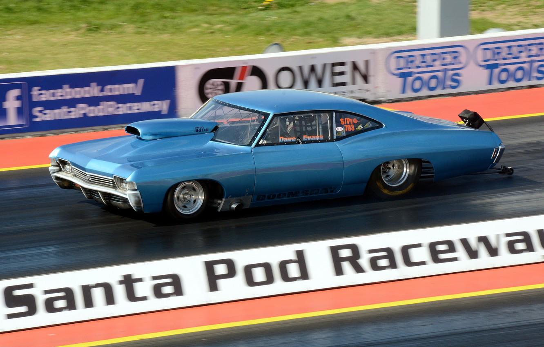 Photo wallpaper race, Chevrolet, muscle car, Impala SS, drag racing