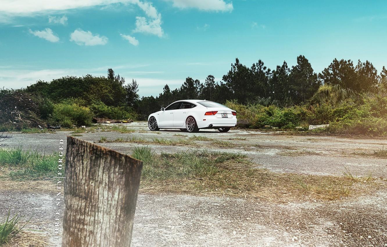 Photo wallpaper white, 360forged, Audi A7 Sportback