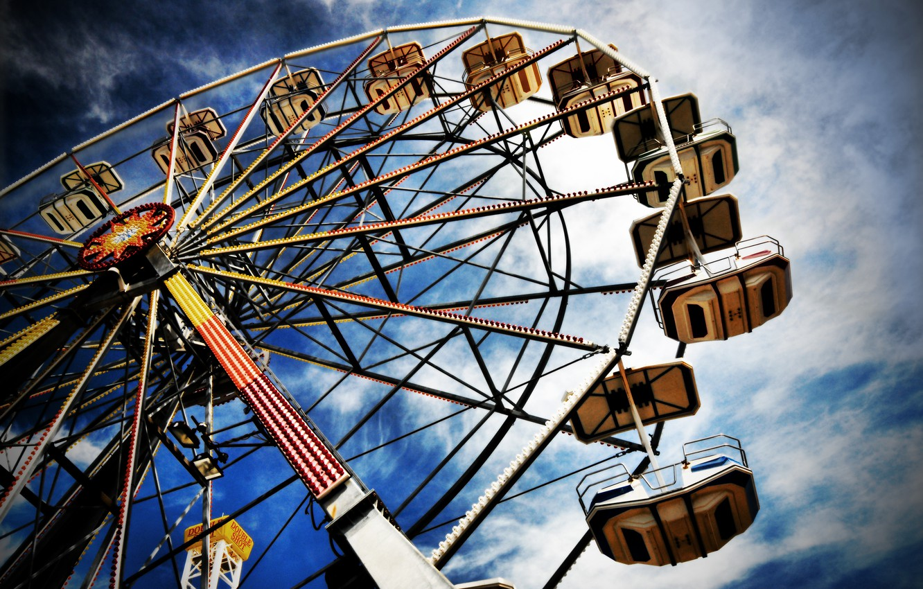 Photo wallpaper the sky, Park, wheel review