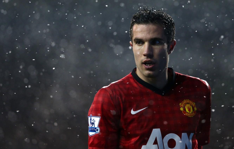 Photo wallpaper Football, football, manchester united, soccer, robin van persie