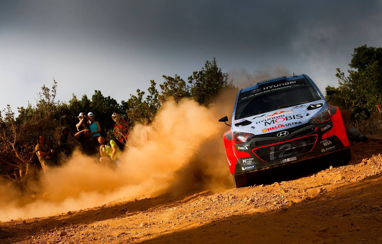 Photo wallpaper Dust, Hyundai, WRC, Rally, i20, FAS